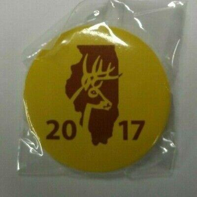 ARCHERY,NO CWD**NEW** SHOTGUN 2020/_ILLINOIS DEER HARVEST PIN 2 PC SET