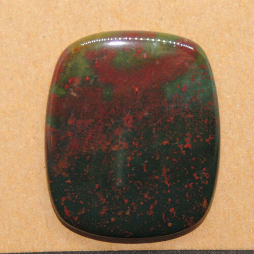 Bloodstone Cabochon 32x26mm with 5mm dome from India  (13927)