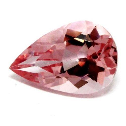 natural morganite 2.85ct 12x8 pear 12.12x8.04x5.73mm transparent pink gemstone
