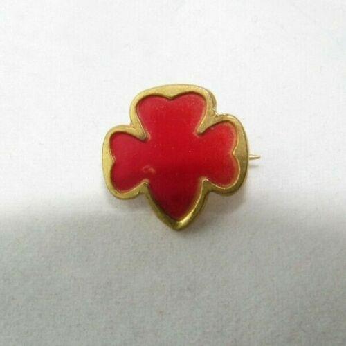 1941 World War 2 PIN Senior Service Bureau Girl Scout RED Trefoil CHRISTMAS Gift