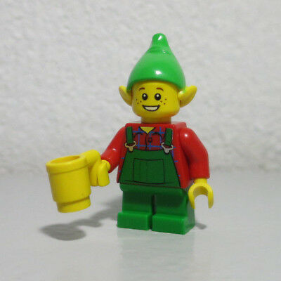 Elf Child Christmas Green Overalls ears Town Classic LEGO Minifigure
