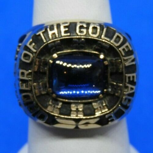 Vintage 10K Yellow Gold Order of the Golden Eagle Ring Size 8.5 - 27.1 Grams!