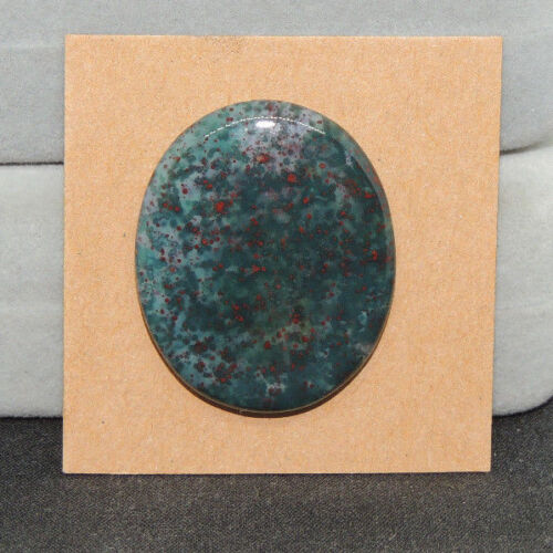 Bloodstone Cabochon 24x29mm with 5mm dome from India  (13713)