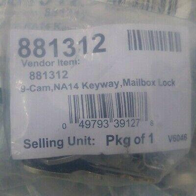 New Mailbox Lock 881312 9 Cam Na14 Keyway W Keys