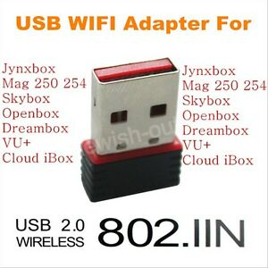 USB WiFi Adapter Dongle For Skybox Openbox Dreambox Jynxbox MAG 250 Receivers