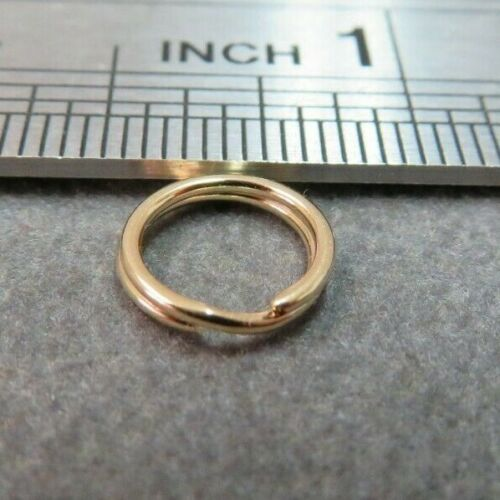 14k Yellow Gold Split Ring Jump Ring Clasp Charm Attacher 14K Solid Gold 8 mm
