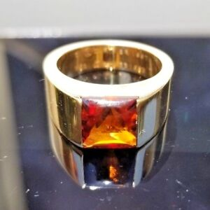 Cartier Tank Citrine Cabochon Design 18k yellow gold ring/band