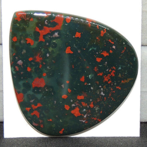Bloodstone Cabochon 42x38.5mm with 4mm dome from India  (14251)