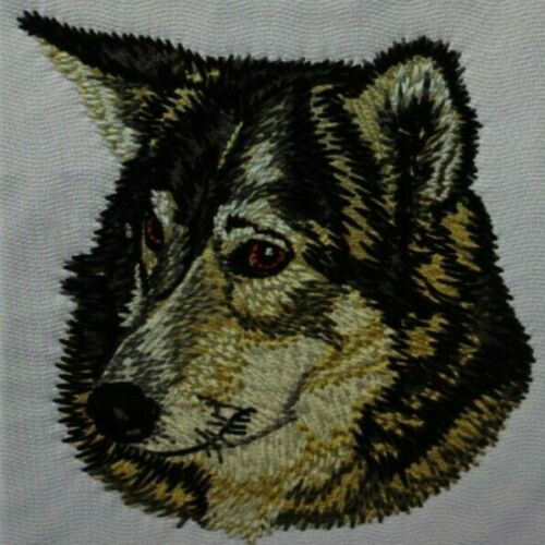 Russian Laika Dog Breed Bathroom SET OF 2 HAND TOWELS EMBROIDERED Personalize