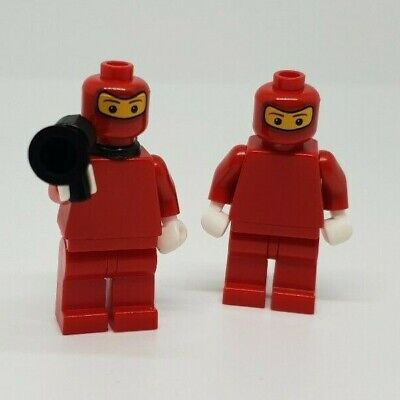 x 2 Lego mini figure RED NINJA Gun backpack weapon