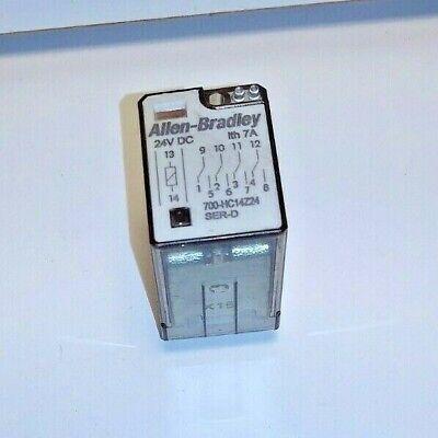 Allen-bradley 700-hc14z24 Relay Series D 24 Volt Dc Coil Used