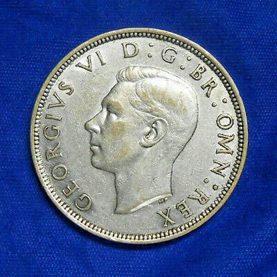 1946 Half Crown Georgivs VI BR Omn Rex British Silver coin