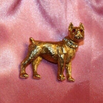 CUTE SIGNED NEMO RED EYED VINTAGE DOG PIN WITH RHINESTONE COLLAR - SO - Nemo Dog Costume
