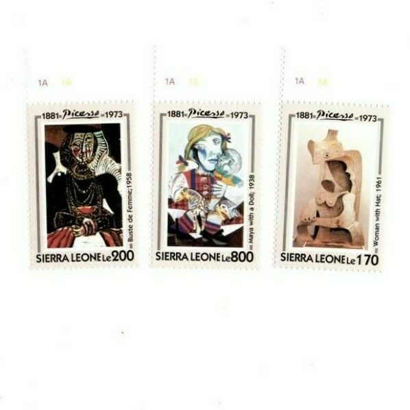 VINTAGE CLASSICS - Sierra Leone 1678-80 Picasso - Set Of 3 Stamps - MNH - $0.89