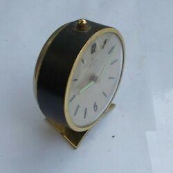 RARE Vintage 3 Deco Wind Up Shelf Desk Alarm Clock Junghans Bivox Germany Look