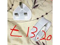 Apple certified wall plug and cable
