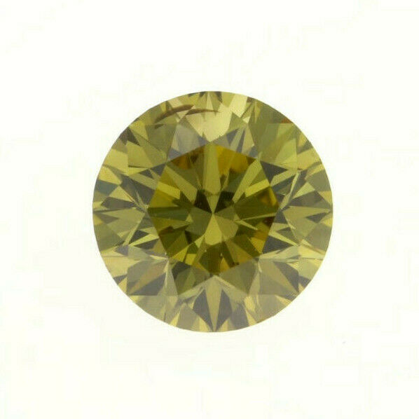 Fancy Brownish Greenish Yellow Natural Loose Diamond 0.44 Cts Round Color GIA