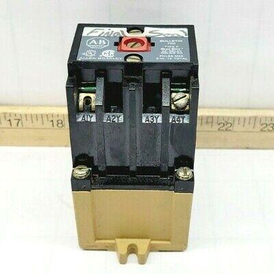 Allen Bradley Ac Relay 600 Vacvdc 10 Amp 115-120v Coil 700-p200a1