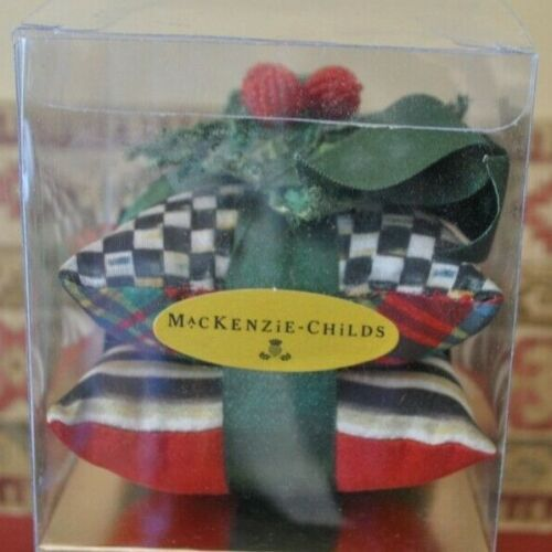 """MacKenzie-Childs 4"""" Square Courtly Sachet, New in Box"""