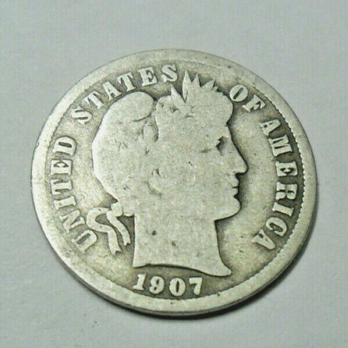 1907 P Barber Dime   *90% SILVER*   *FAIR OR BETTER*   *FREE SHIPPING*