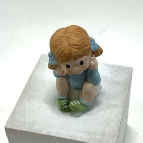 Happy Smile Urchins Miniatures Collections Series I Little Girl Sitting Figurine