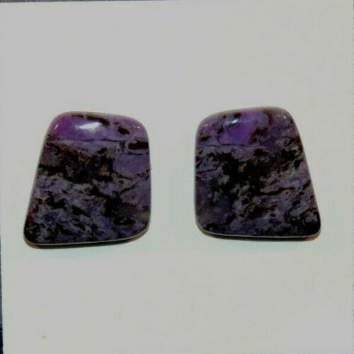 Sugilite Cabochons 15x14mm with 3mm Dome from South Africa set of 2 (7470)