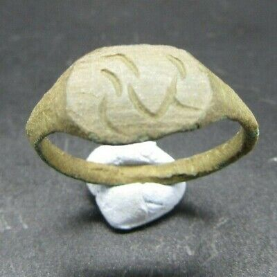 Ancient Roman bronze finger ring, 1st-2nd century ad