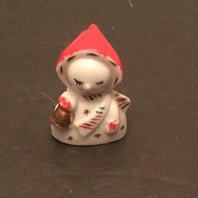 - Vintage Miniature Porcelain Christmas Card Place Setting Card Holder Mini Tiny