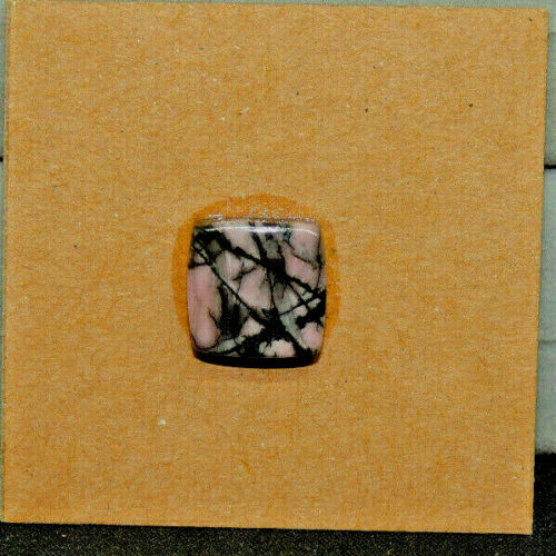 Pink Rhodonite Cabochon 10.5x10.5mm with 4mm dome  (15817)