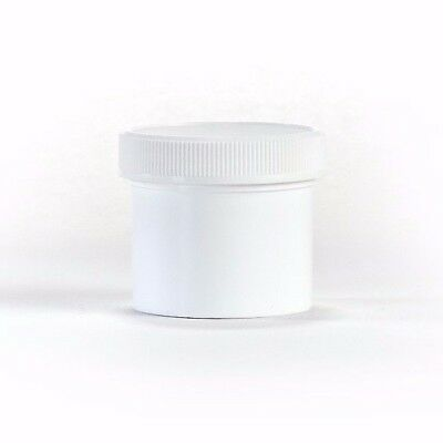 2 oz Wide Mouth White Round Plastic Jars with Lids (20 pack)