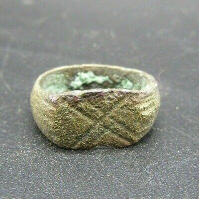 Roman bronze finger ring, 3rd-4th century