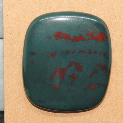 Bloodstone Cabochon 32.5x28.5mm with 5mm dome from India  (13926)