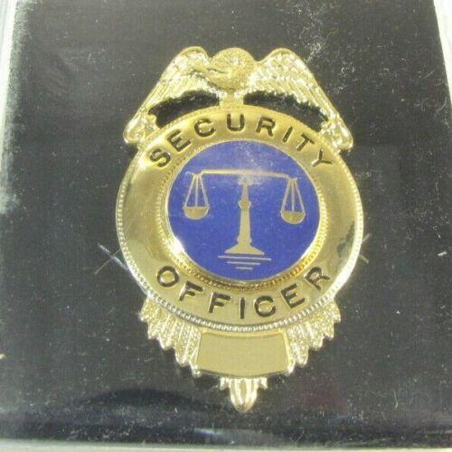 Vintage Obsolete New NOS Cadet Gold Security Officer Badge Shield Justice SH