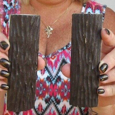 Two 5 inch Stag Jig Buffalo horn knife scales w/ Putty Filler 3/8