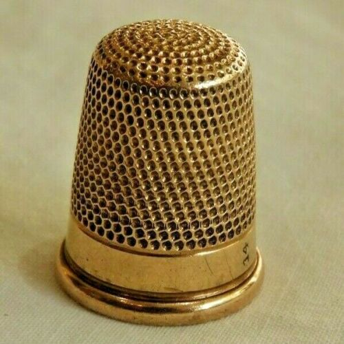 Antique 14K Yellow Gold Sewing Thimble - 5.7 Grams!