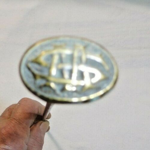 Antique ~ Salvage ~ One File Drawer Rod with Brass Oval Knob w/ Initials ~ #2478