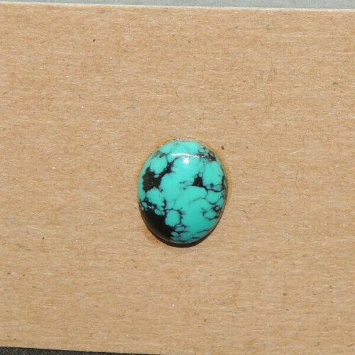 Kingman Turquoise Cabochon 10x12mm with 4mm Dome from Arizona  (17561)