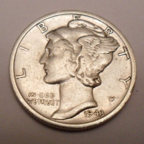 1943 S Mercury Dime   *90% SILVER*   *AG OR BETTER*   *FREE SHIPPING*