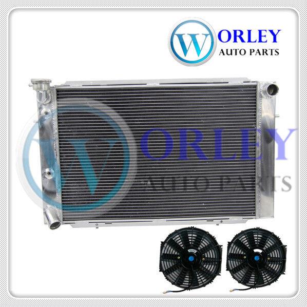 3 CORE ALUMINUM RADIATOR for HOLDEN V8 WB STATESMAN 80-85 81 82 83 84 AT/MT &FAN