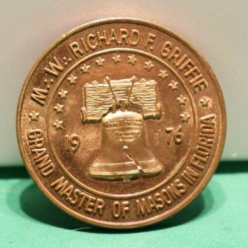 Masonic Token Grand Lodge of Florida  1976
