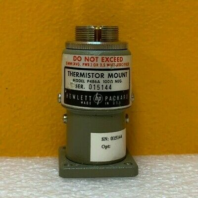 Hp Agilent P486a Wr-62 12.4 To 18 Ghz Waveguide Thermistor Mount. Tested