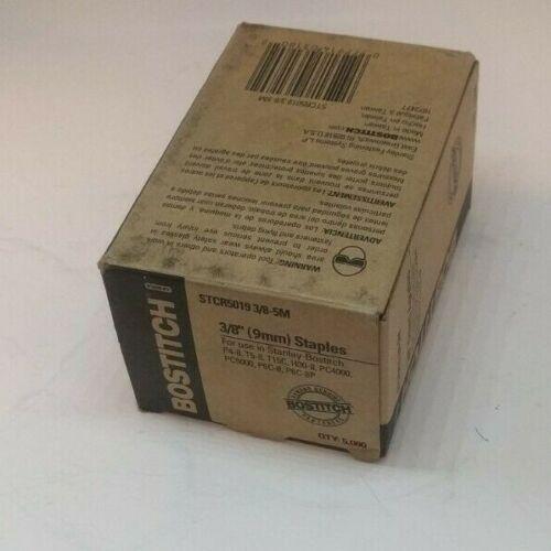 "Genuine BOSTITCH 3/8"" (9mm) Power Crown Staples - Box of 5000 (STCR50193/8-5M)"