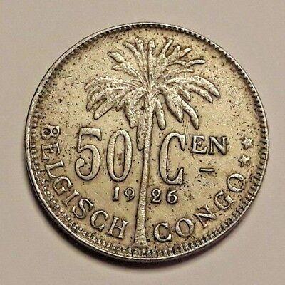 50 Centiemen Belgisch CONGO  / Congo Belge  Centimes 1926 NL