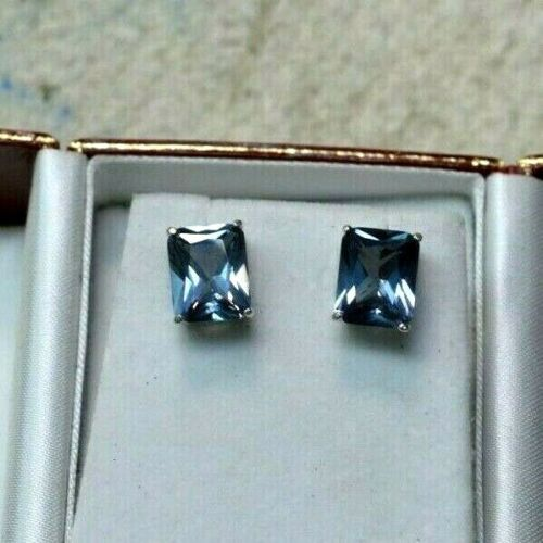 8.97 CT WOMANS EARRINGS RUSSIAN WELL TEST REAL LAB ALEXANDRITE COLOR CHANGE