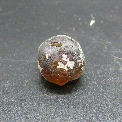 Authentic Viking Scandinavian light orange glass bead 10th century