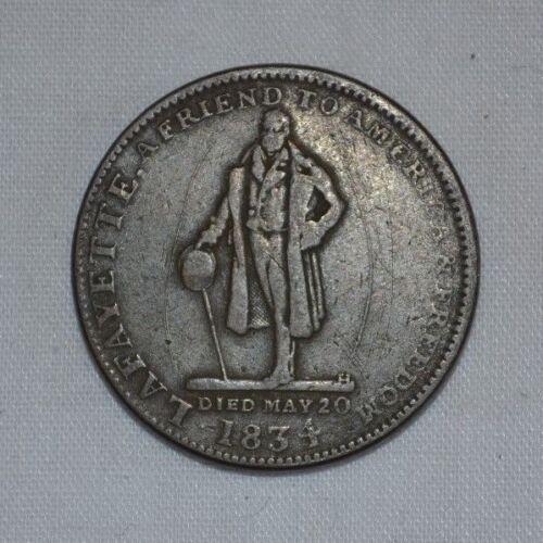 1834 Lafayette Hard Times Token