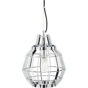 CB2 Cage Chrome Pendant Lights (x2)