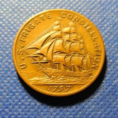U.S. FRIGATE CONSTELLATION TOKEN!  c304HXX