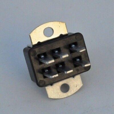 Nos Cinch Jones Male Socket Panel Mount 250v 6 Pin Connector