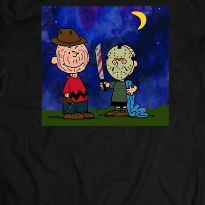 PEANUTS CHARLIE BROWN HALLOWEEN CUSTOM OLDSKOOL ARTWORK* Shirt *MANY OPTIONS* - Charlie Halloween